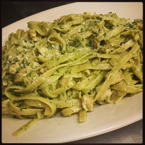 Fettuccine Pasta with Pesto