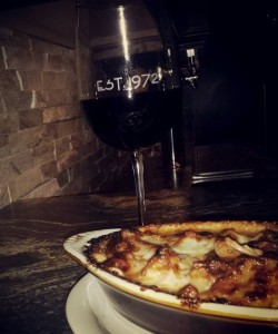 Baked Ziti and Old Zin Vine Zinfandel Wine